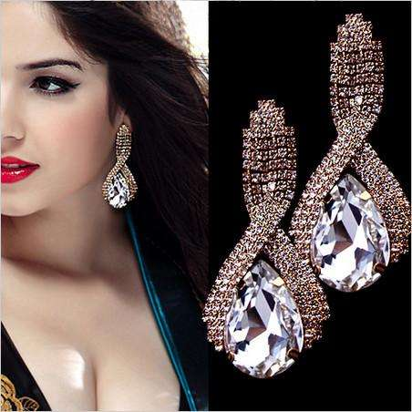 Crystal Long Earrings - Tooty Store