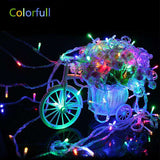 christmas decorations 10m 220V LED lights outdoor