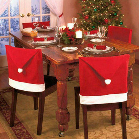 Santa Hat Chair Cover
