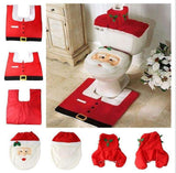 Christmas Decorations Happy Santa Toilet Seat Cover and Rug Set