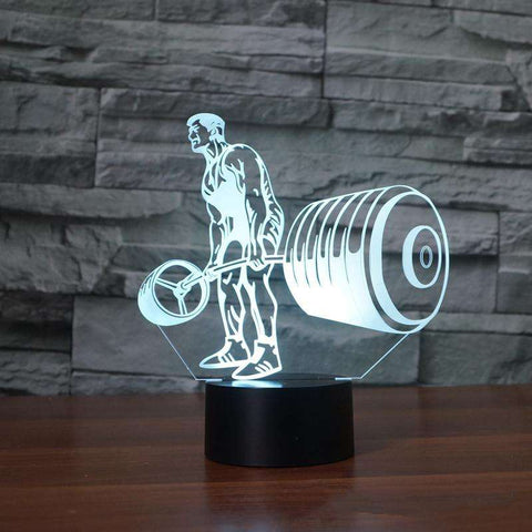 Weightlifting 3D Night Light