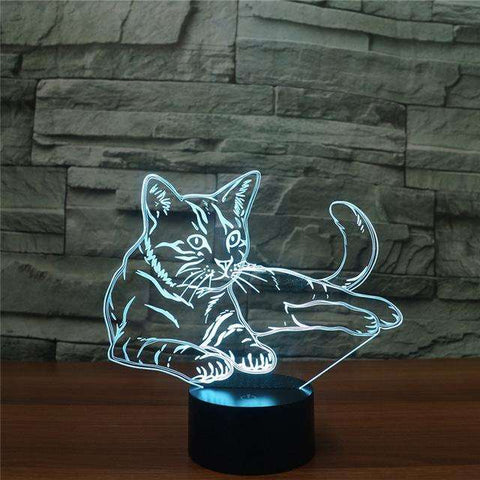 Lovely Cat 3D Night Light