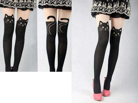 Cat Knee High Pantyhose
