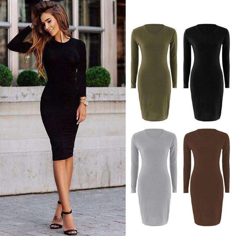 Women Long Sleeve Dress