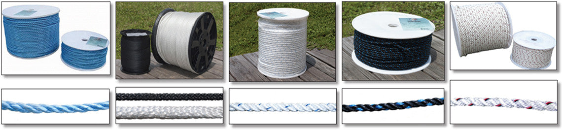 """EVERSTRONG Nylon Twisted Anchor Rope 1//2/"""" with stainless steel thimble"""