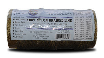 Nylon Braided Twine – Gold at Everstrong Rope