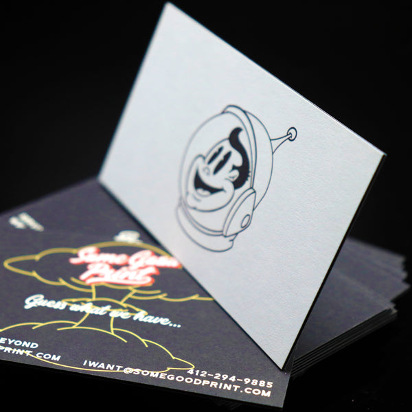 "38 pt. Trifecta Velvet Black Business Cards - 2"" x 3.5"""