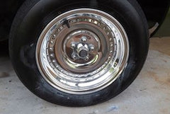 Polished tire - after