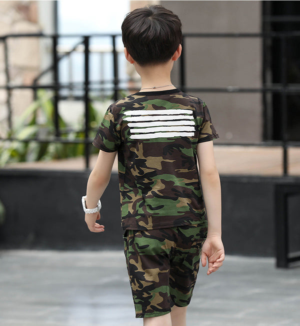 2PC Sets Military Uniform Clothes
