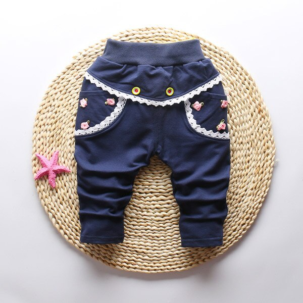 0-3Y Girls Full Pants Trousers