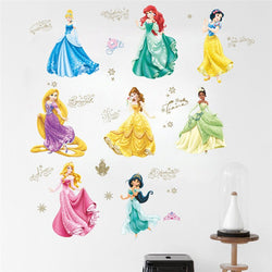 Cartoon Cinderalle Snow White Princess Wall Stickers