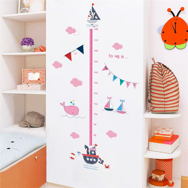 Cartoon Minnie Voyage Pattern Wall Sticker