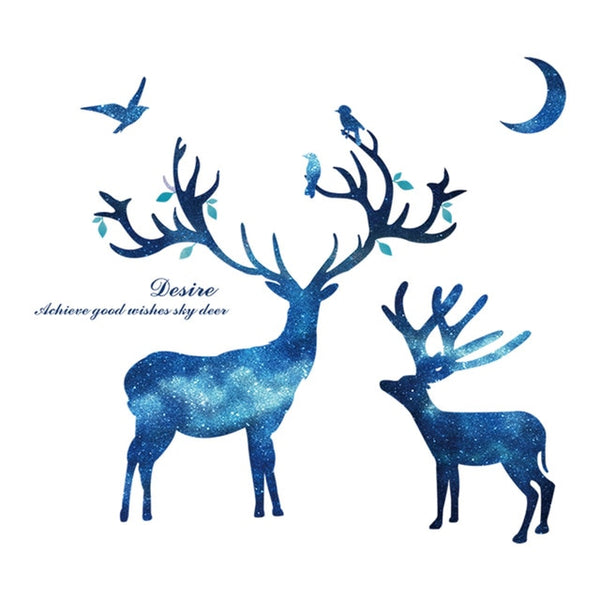 Deer Tree Wall Stickers