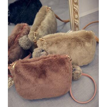 Winter fur handbags