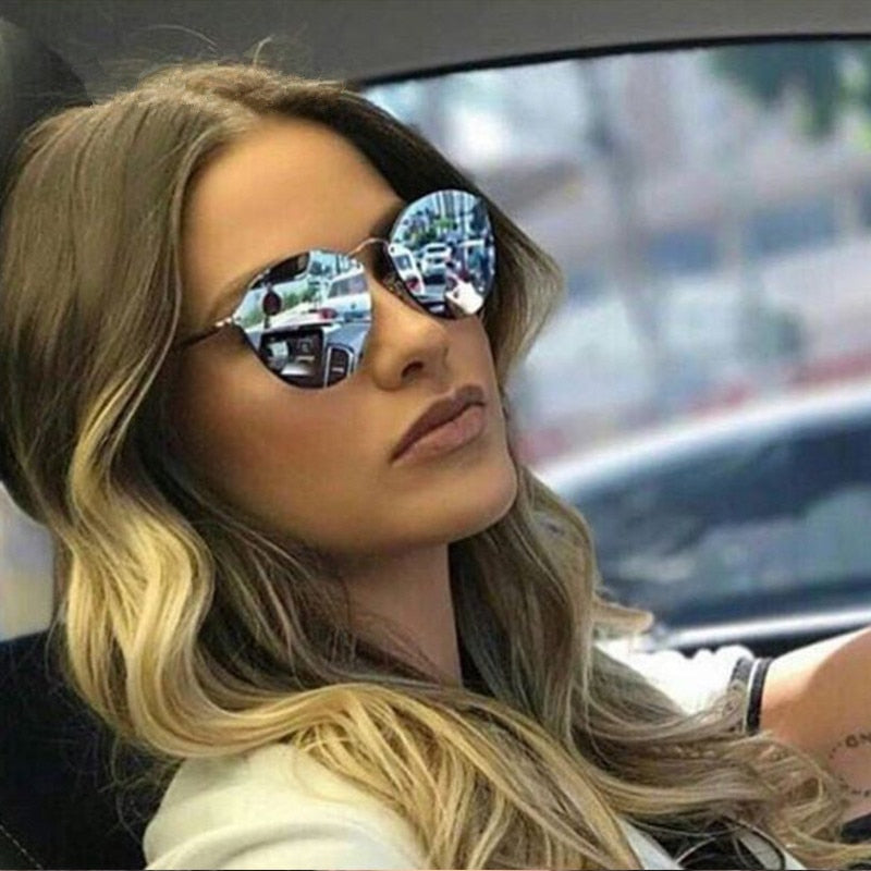 Women Rimless Sunglasses