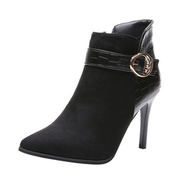 Side Zipper High Heel Boots