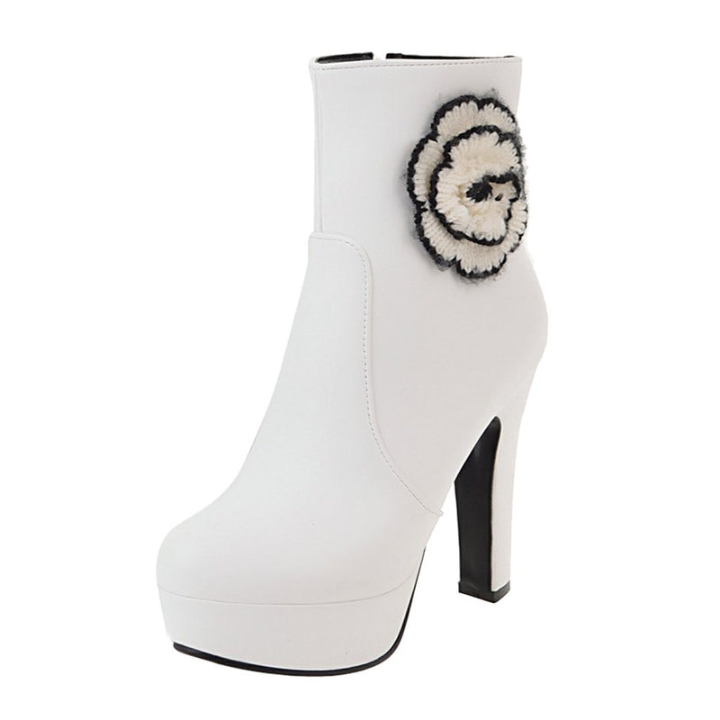 Women's Flowers Shoes Boots