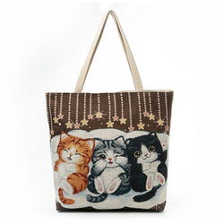 Canvas Shoulder Handbag
