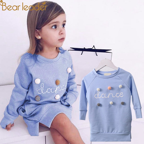 Fashion Long Hoodie Dress 2-6T