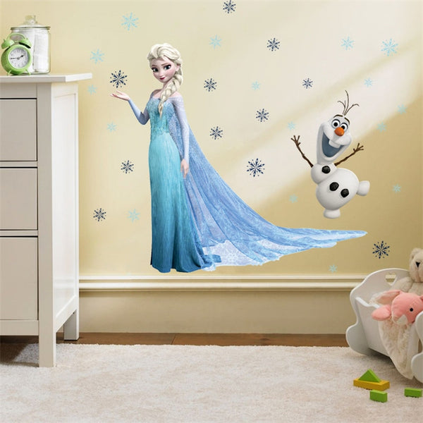 Princess Elsa Anna Wall Stickers