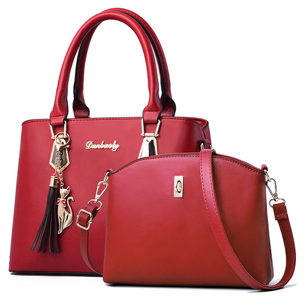 women bag Contain two Luxury handbag