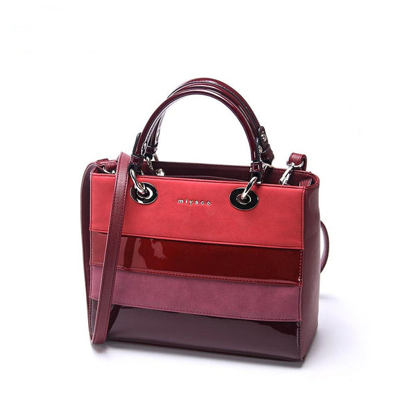 High Quality Bright Leather Handbag