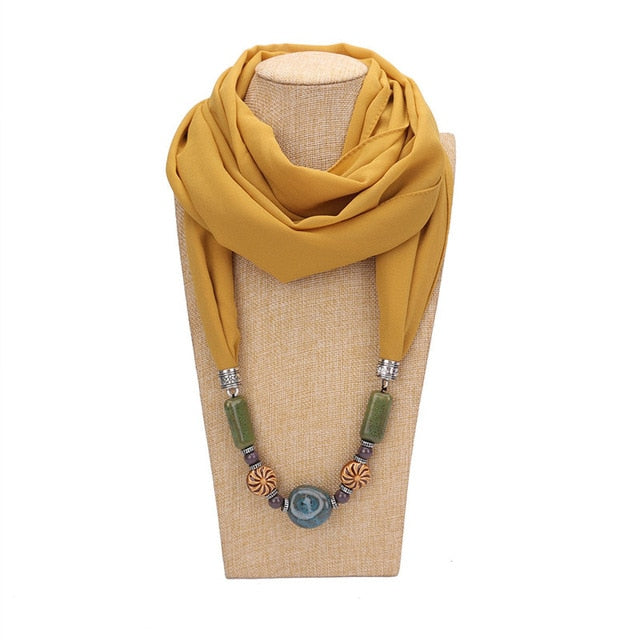 Necklace Pendant Scarf
