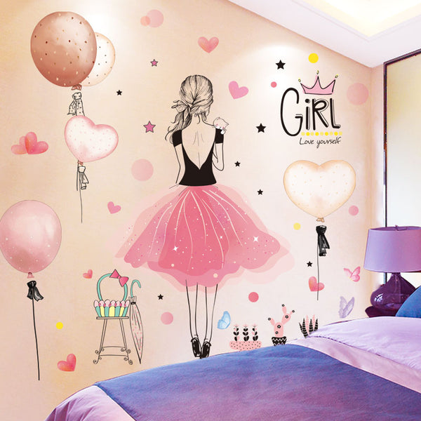 Cartoon Girl Wall Stickers