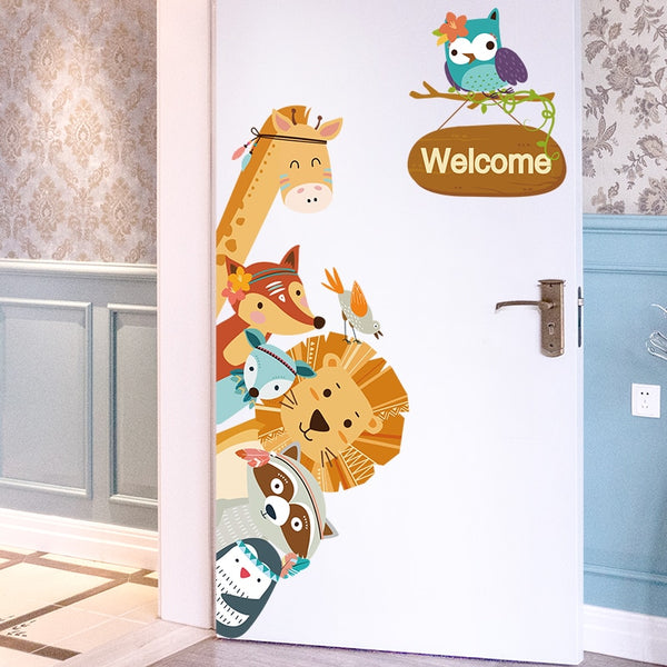 Cartoon Animals Wall Mural Stickers