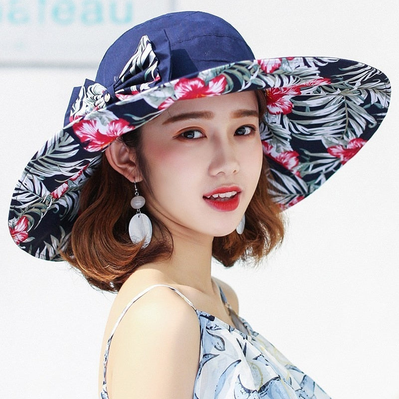 reversible summer hat for women