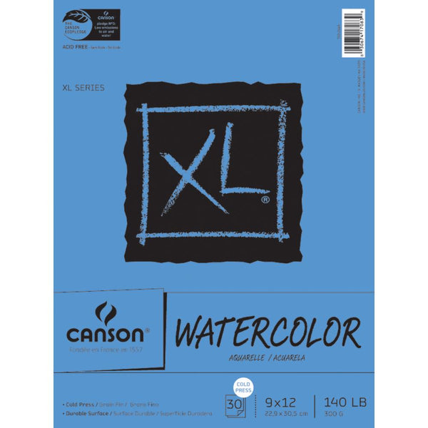 "Canson - XL Watercolour paper pad 9""x12"""
