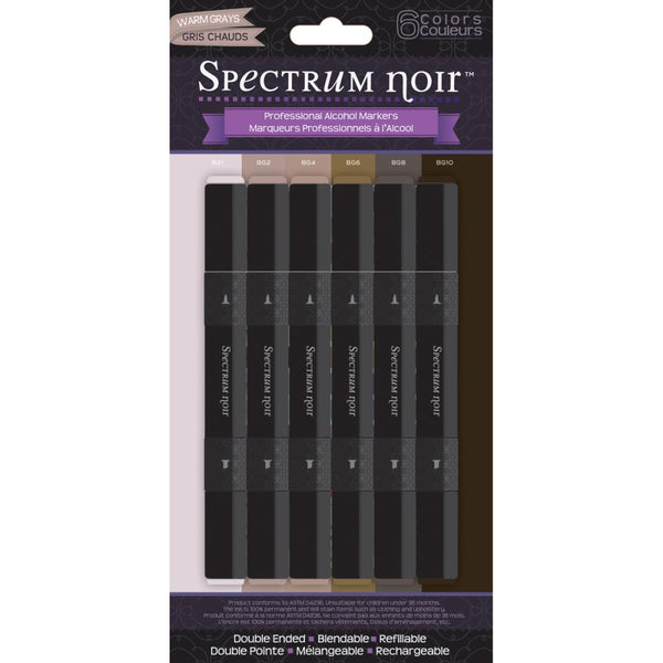 Spectrum Noir - Alcohol Markers - Warm Grays 6/pk