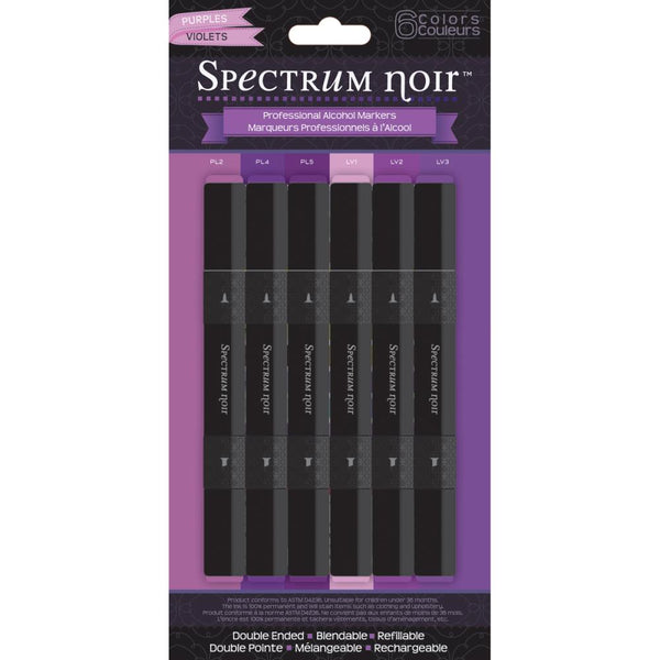 Spectrum Noir - Alcohol Markers - Purples 6/pk