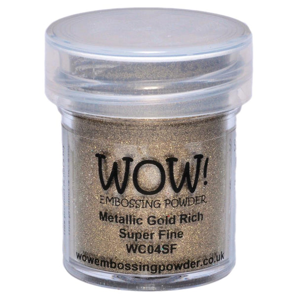 Wow! Embossing Powder - Super Fine - Gold Rich