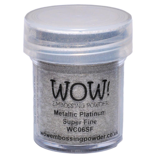 Wow! Embossing Powder - Super Fine - Metalic Platinum