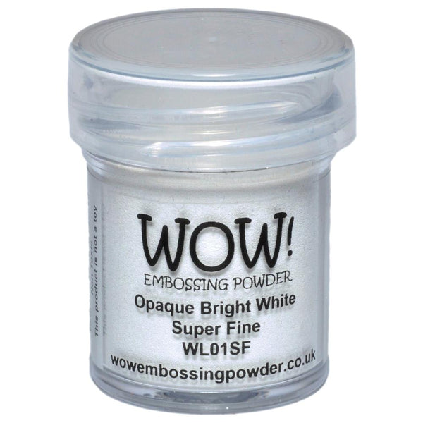 Wow! Embossing Powder - Super Fine - Opaque Bright White