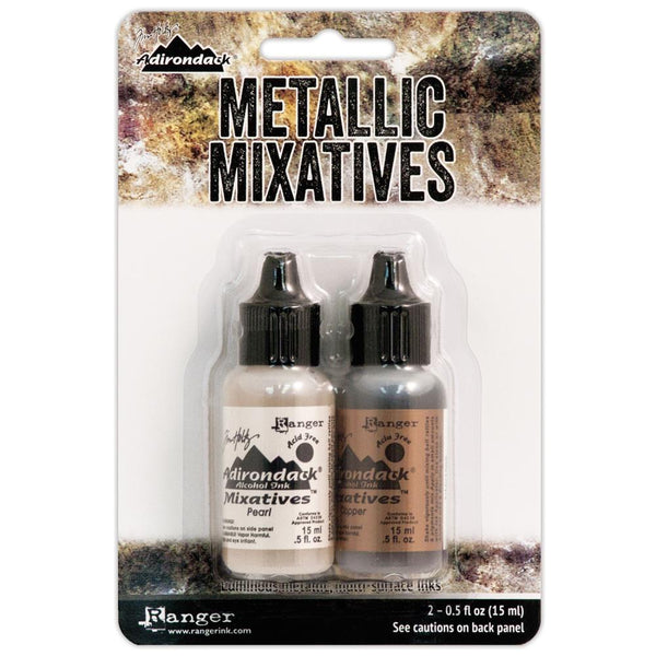 Ranger - Tim Holtz - Alcohol Ink - Pearl & Copper Metallic Mixatives