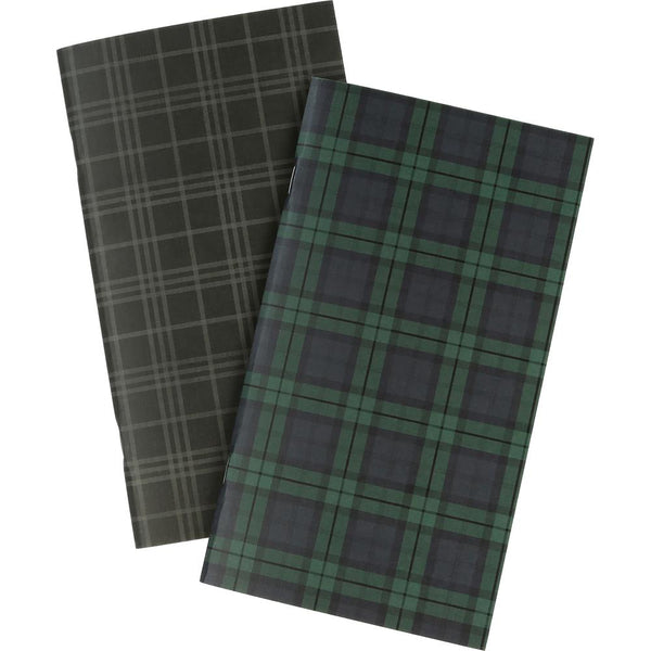 Echo Park - Traveler's Notebook - Black Watch Plaid Blank Inserts