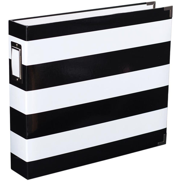 Heidi Swapp - Black & White Stripe 12 x 12 D-Ring Album