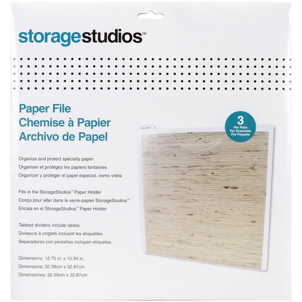 Cropper Hopper - Paper Files W/Tabbed Dividers & Labels 3/Pkg