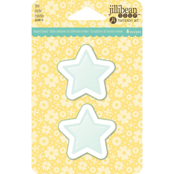 Jillibean Soup - PVC Card Shakers 6/Pkg - Star