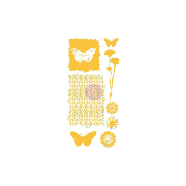"Prima Marketing - Christine Adolph - Butterflies - Adhesive Rub-Ons 5.5""X12"""