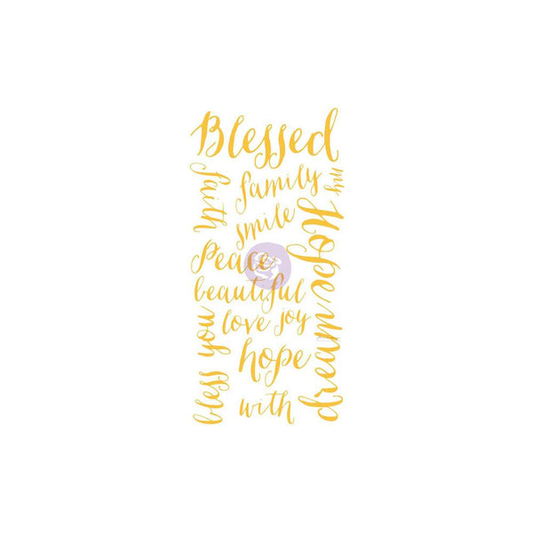 "Prima Marketing - Christine Adolph - Blessed Words - Adhesive Rub-Ons 5.5""X12"""