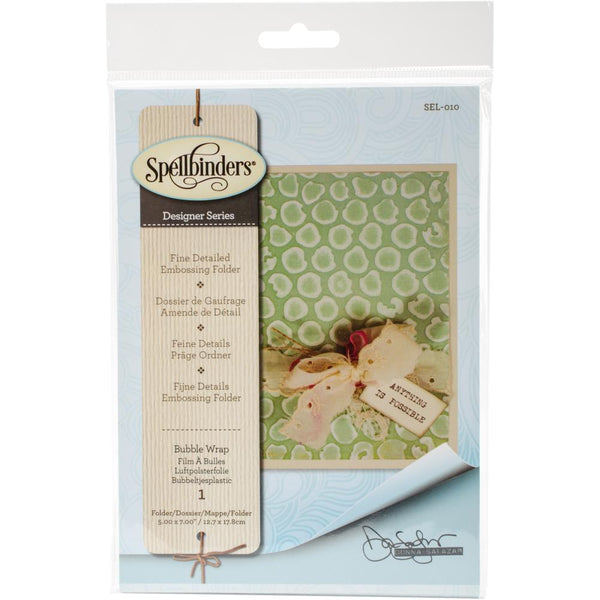 Spellbinders - Donna Salazar - Embossing folder - Bubble Wrap