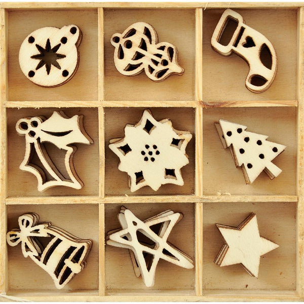 KaiserCraft - Mini Wood Shapes - Festive