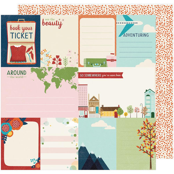 American Crafts - Shimelle - Go Now Go - Run - 12x12 Patterned Paper