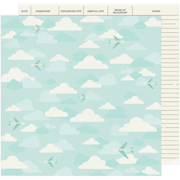 American Crafts - Shimelle - Go Now Go - Fly - 12x12 Patterned Paper