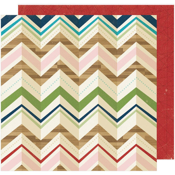 American Crafts - Shimelle - Go Now Go - Cafe - 12x12 Patterned Paper