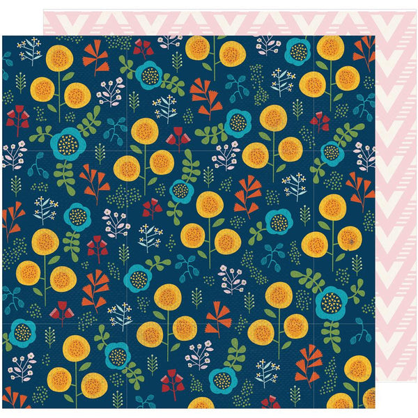 American Crafts - Shimelle - Go Now Go - Botanical - 12x12 Patterned Paper