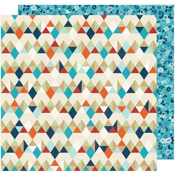 American Crafts - Shimelle - Go Now Go - Hike - 12x12 Patterned Paper